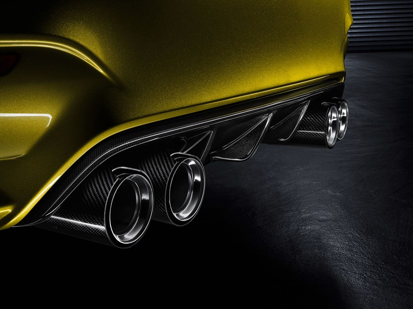 2013 Bmw M4 Coupe Concept Detail Photo Exhaust Tips Size 2048 X