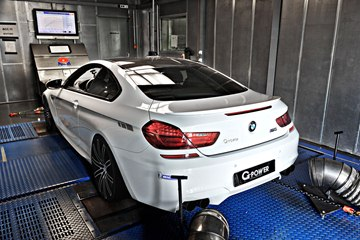 The BMW M6 by G-Power on the dyno.