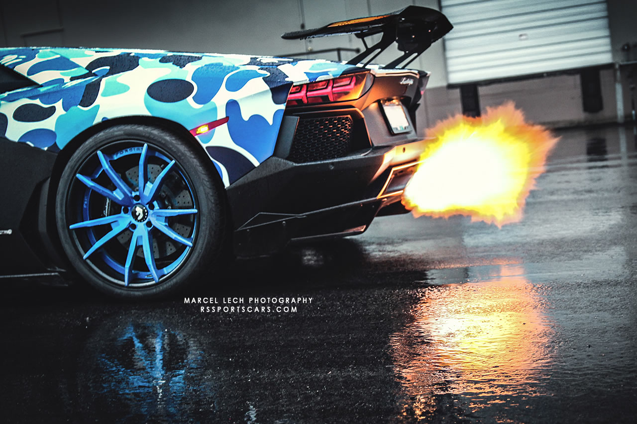 2013 Lamborghini Aventador Bape Arctic Camo By Liberty Walk Detail Photo Flame Thrower Size