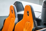 interior, seats, orange color