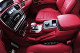 interior, fiery red and black leather, Alcantara