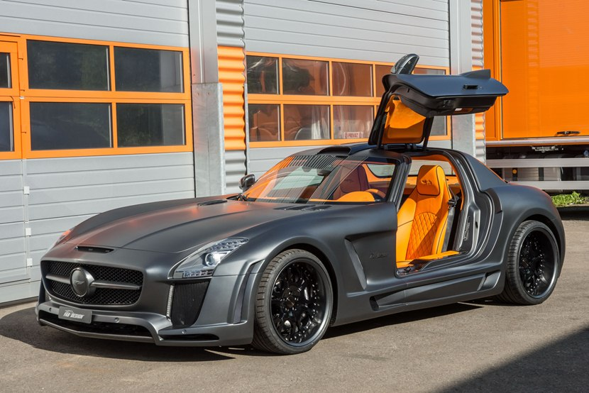 2013 mercedes benz sls amg gullstream by fab design front photo matt grey color orange. Black Bedroom Furniture Sets. Home Design Ideas