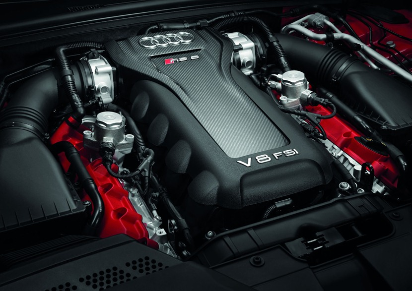 engine, 450 hp, red cylinder cover