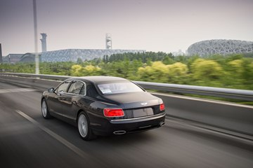 Bentley's styling team has developed an athletic design for the 2014 Flying Spur that combines traditional Bentley styling cues with a sporting stance and 