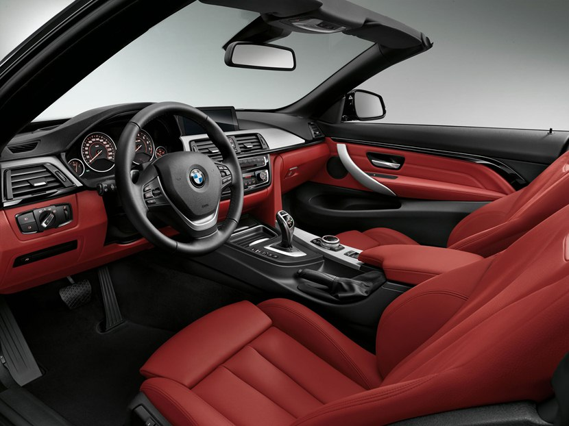 2014 Bmw 435i Convertible Interior Photo Red Color