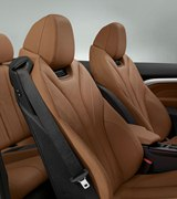 interior, brown leather seats