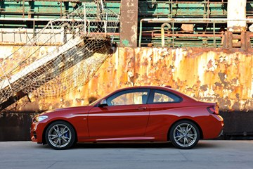 The 2014 BMW M235i Coupe embodies the driving dynamics that are signaled by its 