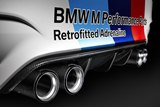 detail, BMW M Performance exhaust system
