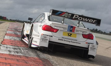 The rear view of the 2014 M4 DTM race car.