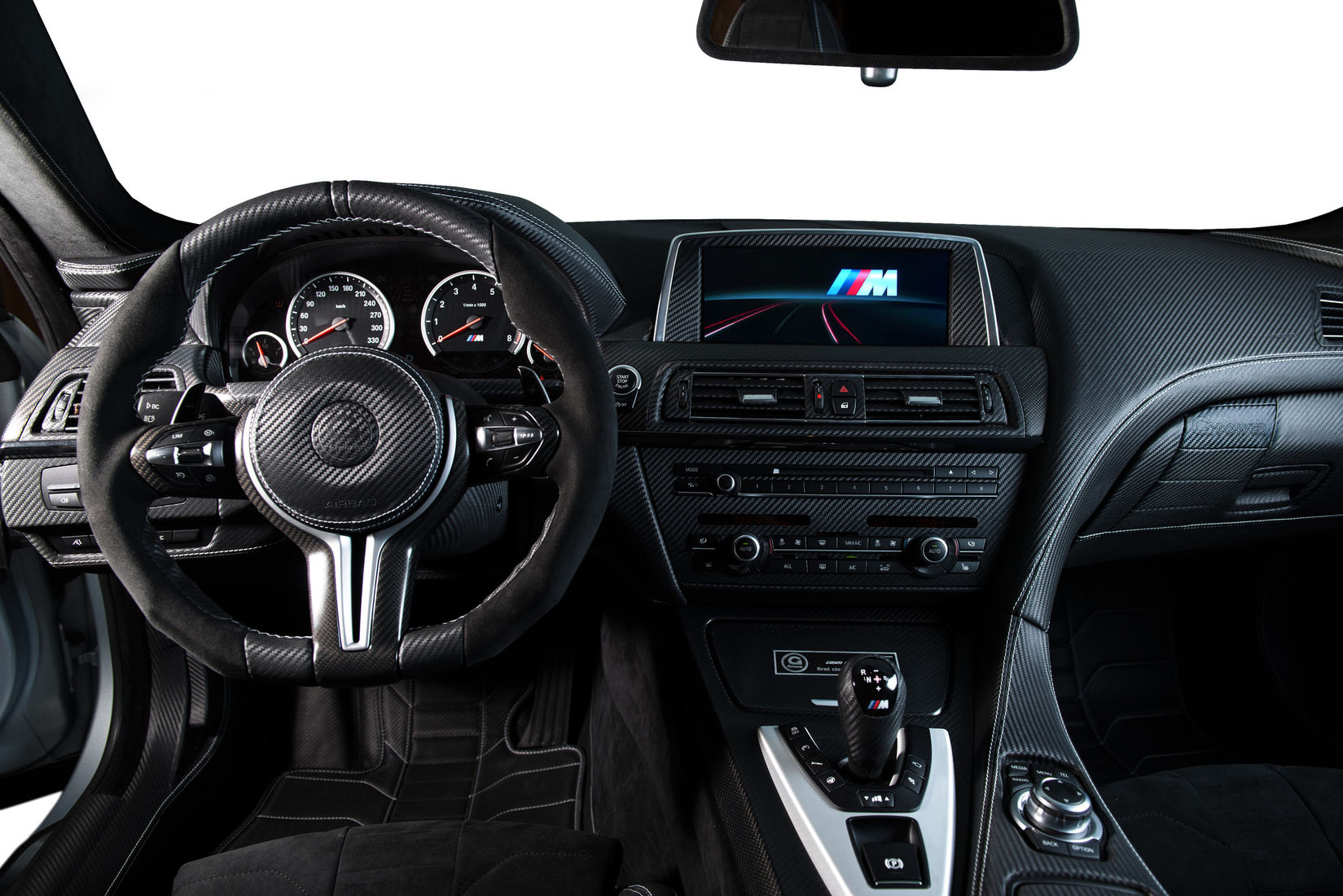 2014 bmw m6 gran coupe by g power interior photo for Carbon interieur