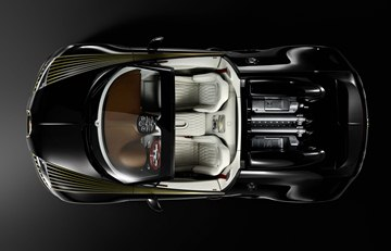 The body of the Bugatti Veyron 16.4 Grand Sport Vitesse Black Bess is 