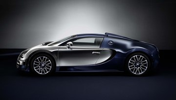 "The ""Ettore Bugatti"" Legend is based on the Bugatti Veyron 16.4 Grand Sport 