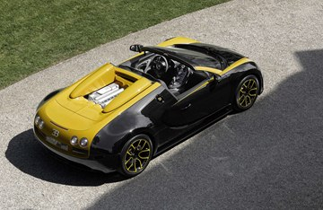 "The carbon-fiber body of the ""1 of 1"" was produced in black and yellow, reviving 