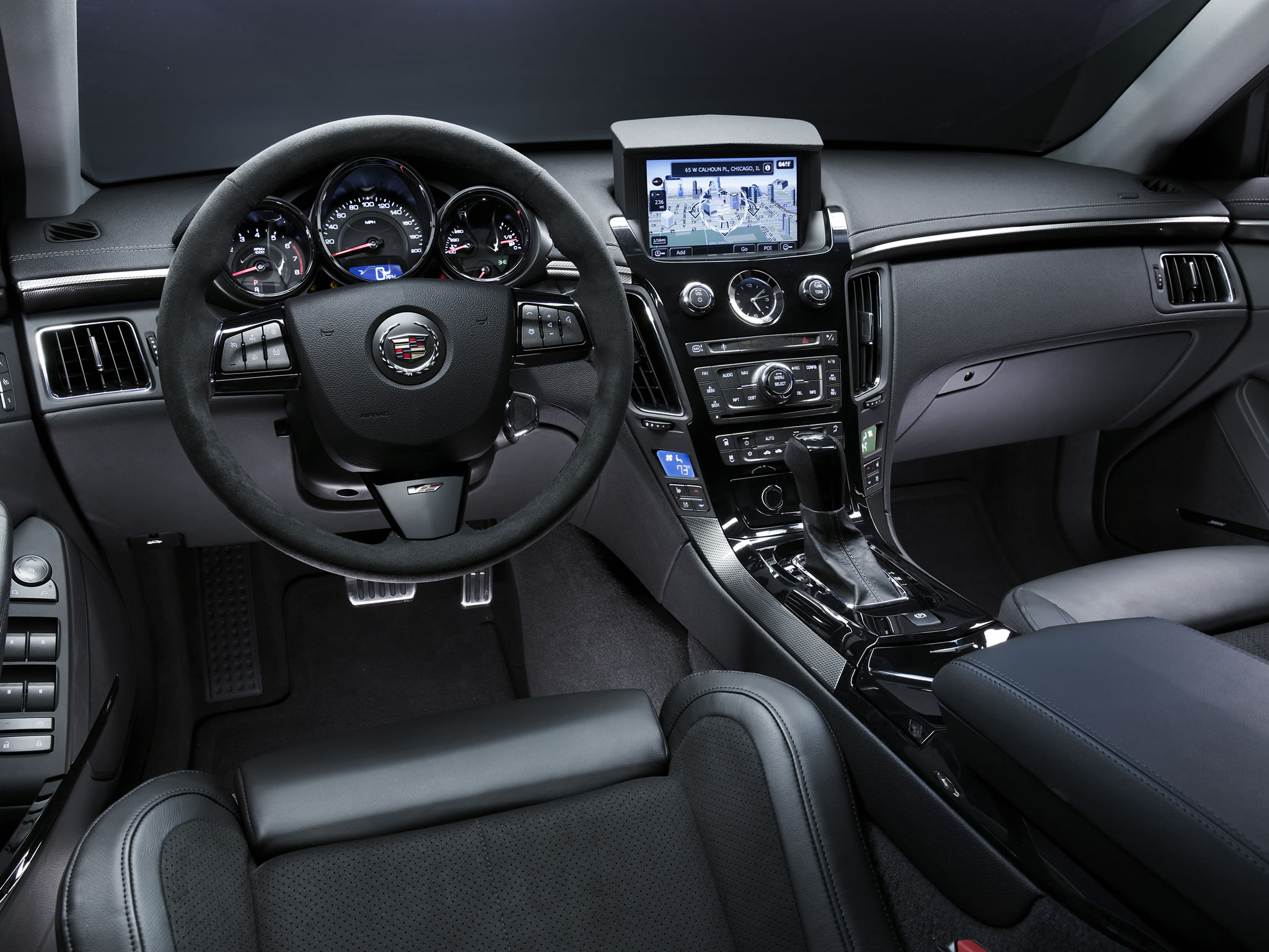 2014 cadillac cts v sedan interior photo steering wheel. Black Bedroom Furniture Sets. Home Design Ideas