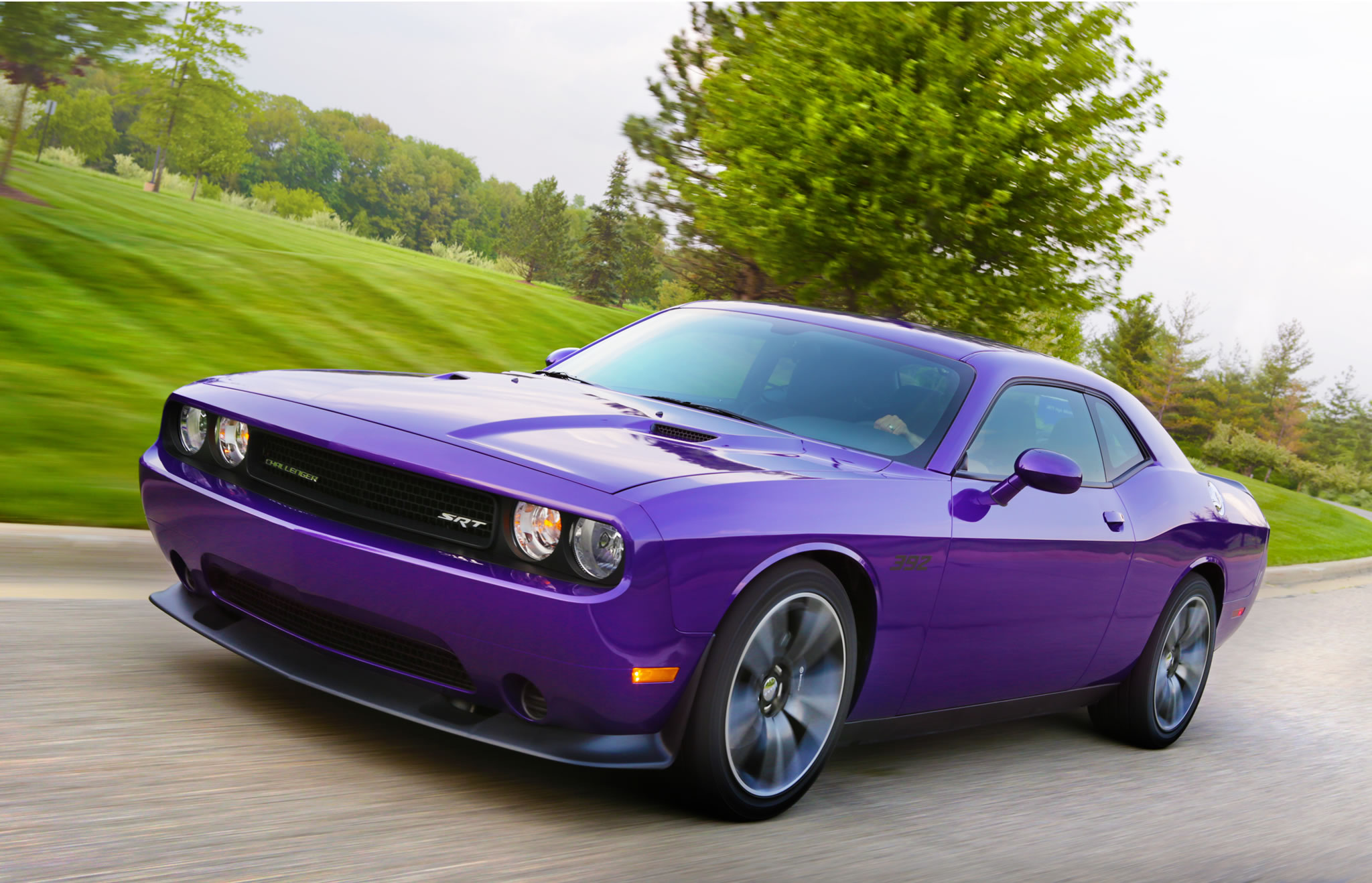 2014 Dodge Challenger Srt8 Front Photo Plum Crazy Pearl