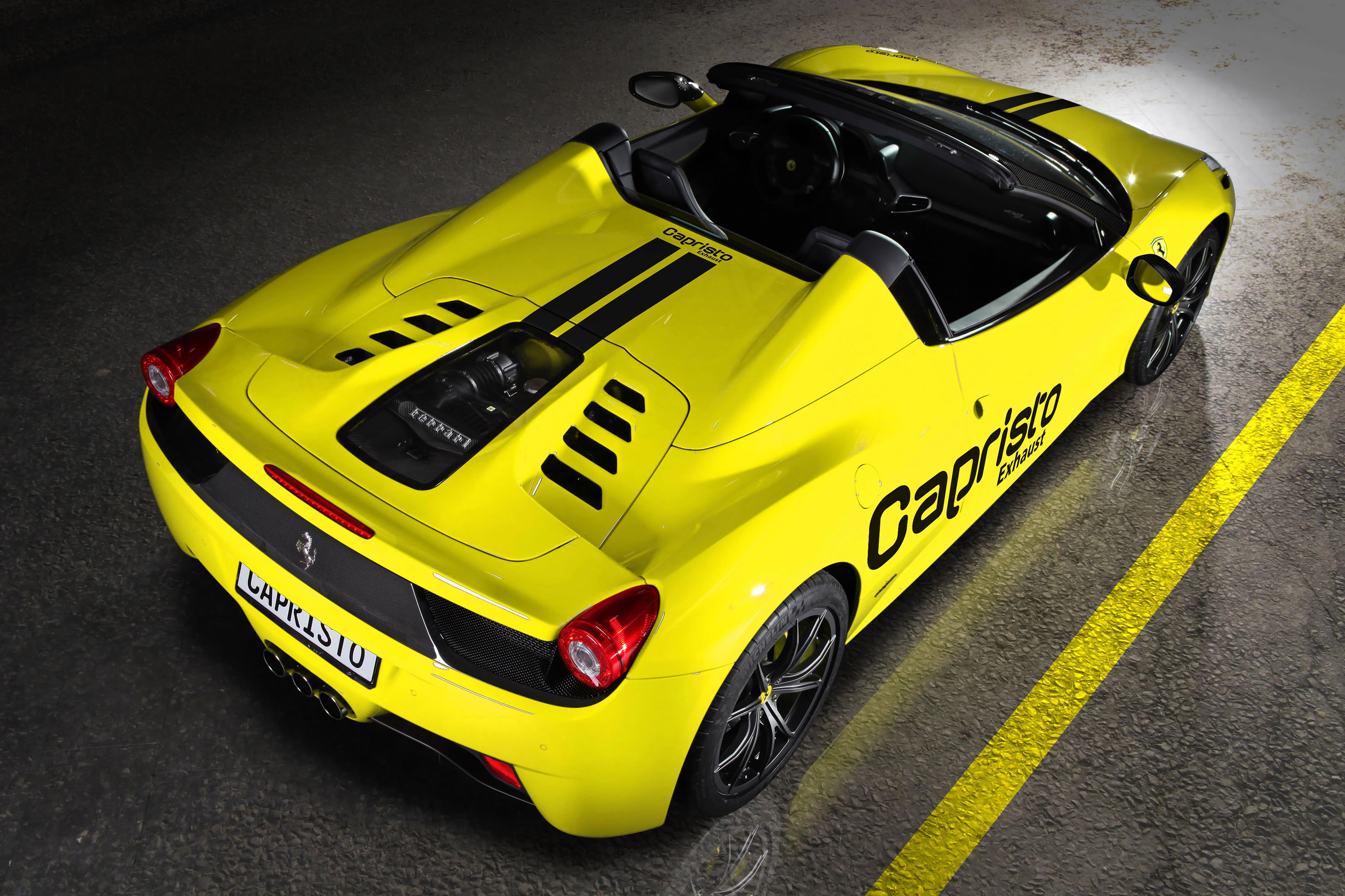 bright yellow ferrari 458 spider by capristo - Ferrari 2014 Yellow