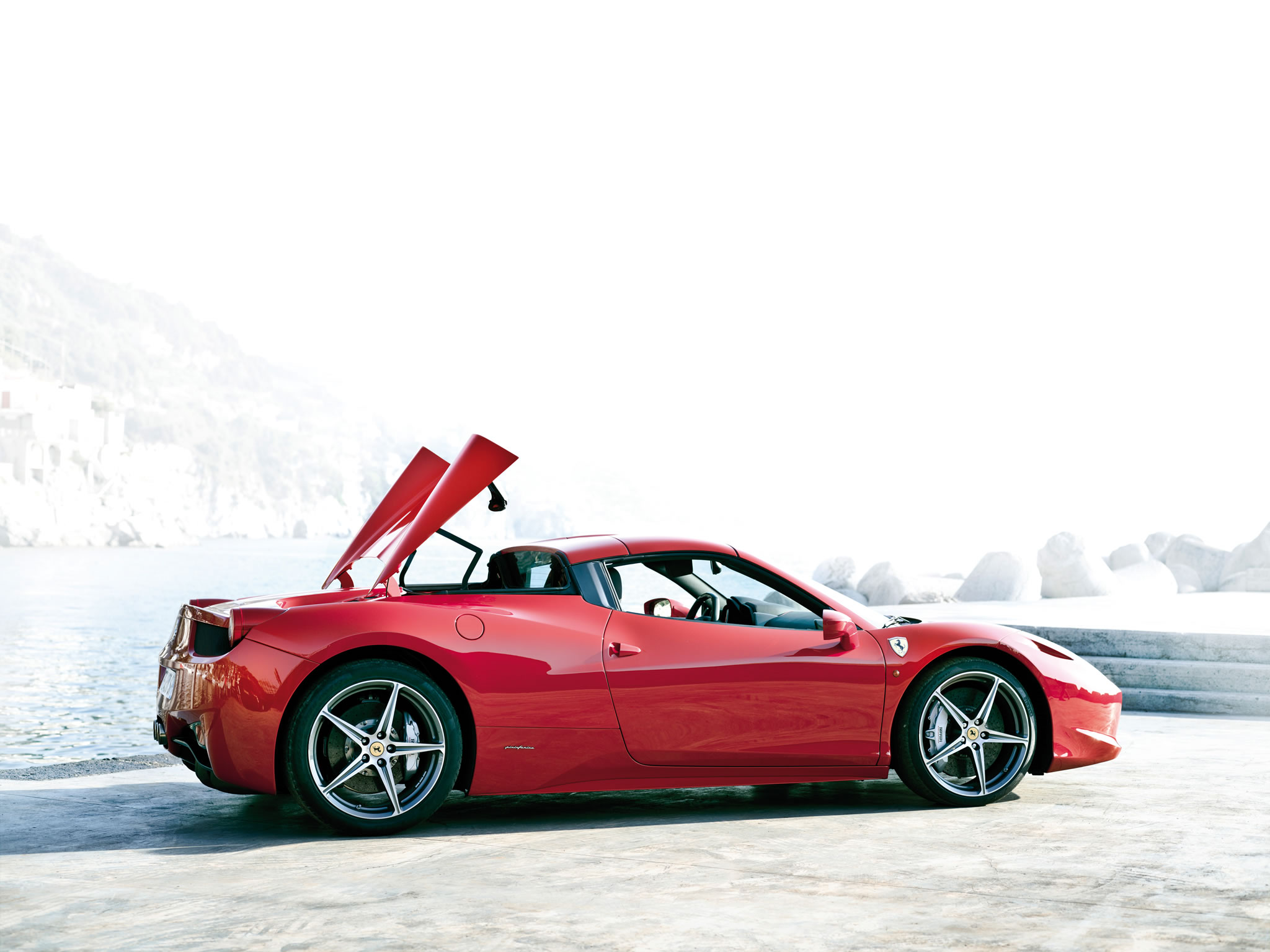 2014 Ferrari 458 Spider Side Photo Roof Opening