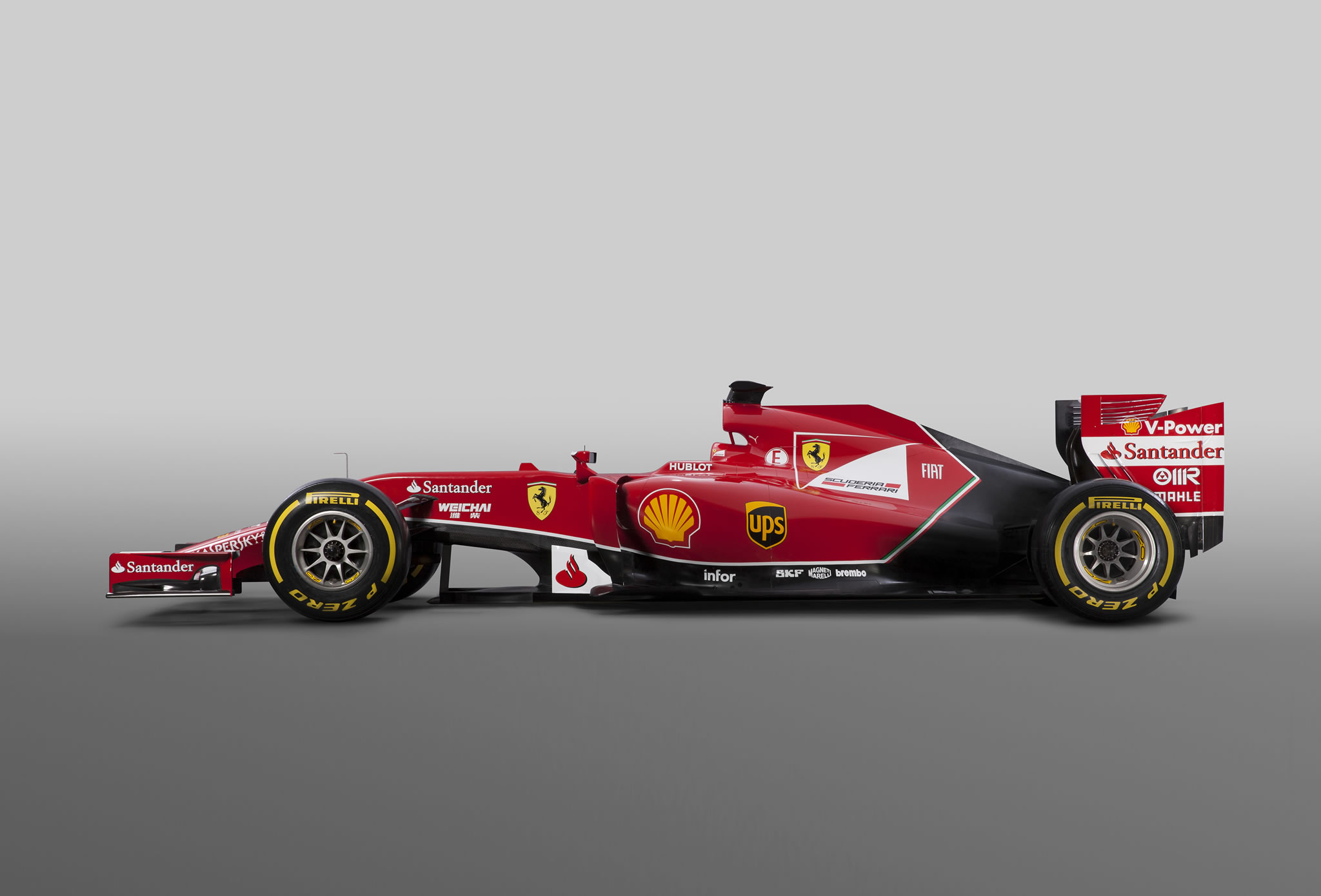 2014 Ferrari F14 T Formula 1 Car Side Photo Scuderia