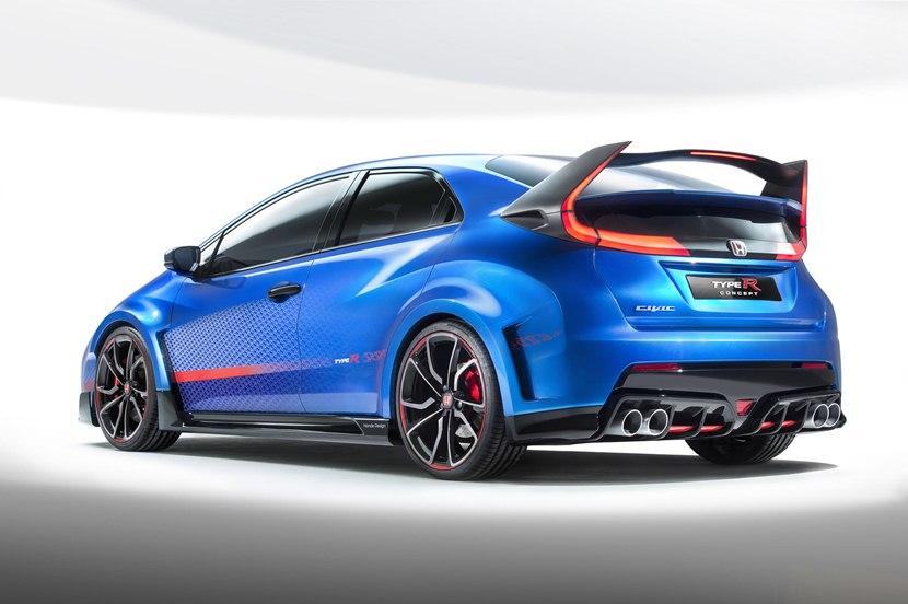 2014 Honda Civic Type R Ii Rear Photo Huge Wing