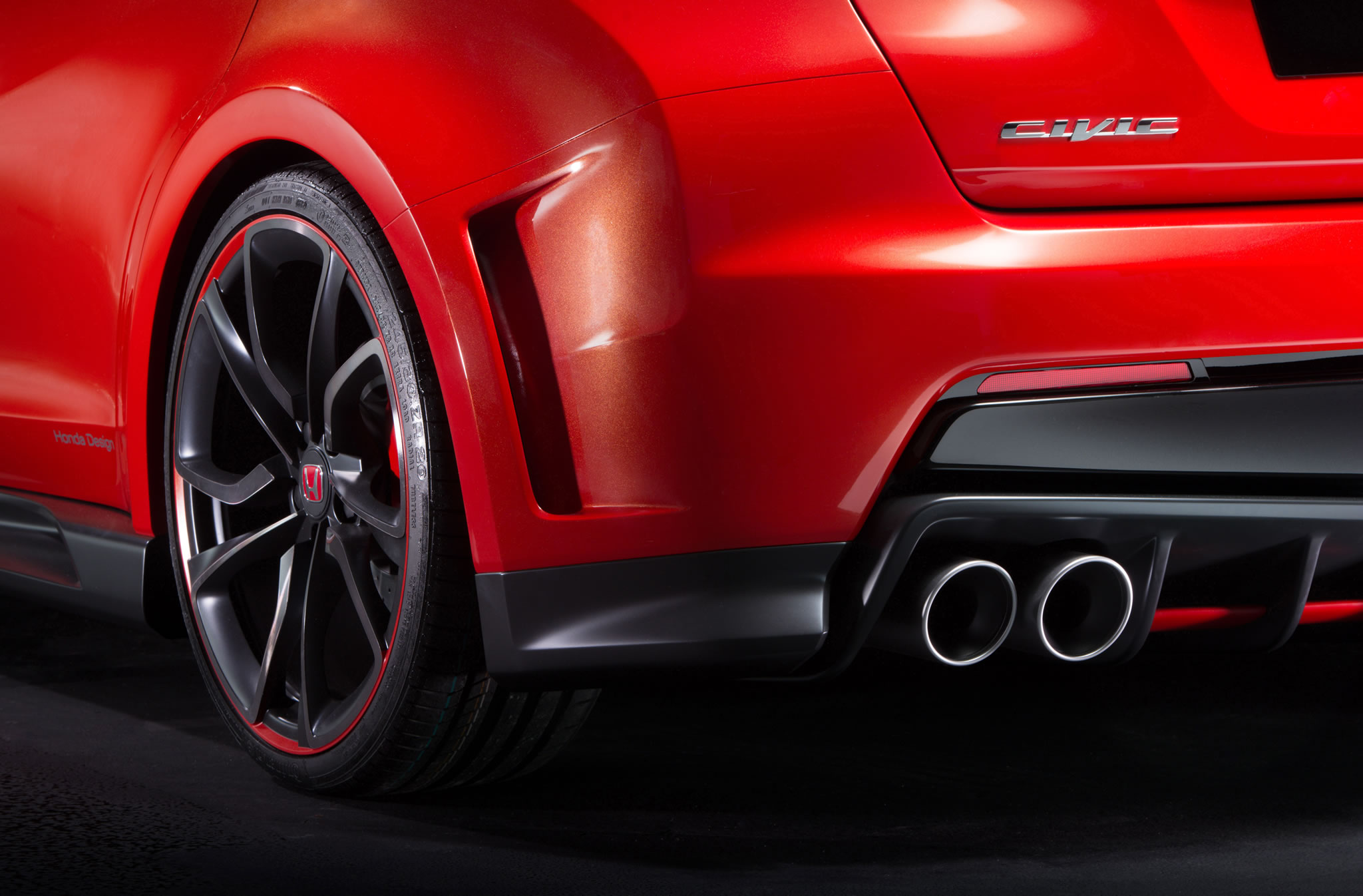 2014 honda civic type r concept detail photo exhaust. Black Bedroom Furniture Sets. Home Design Ideas
