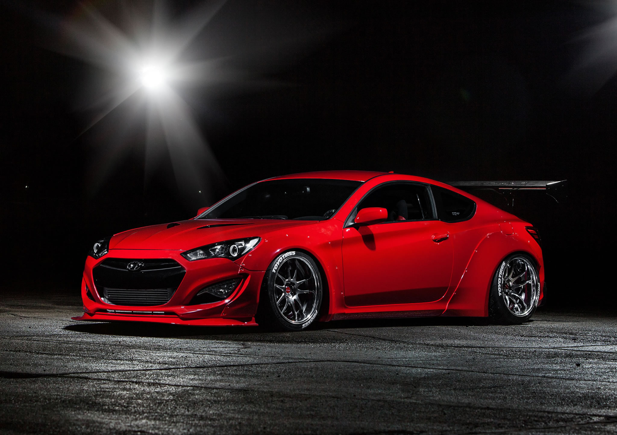 2014 Hyundai Genesis Coupe By Blood Type Racing Front