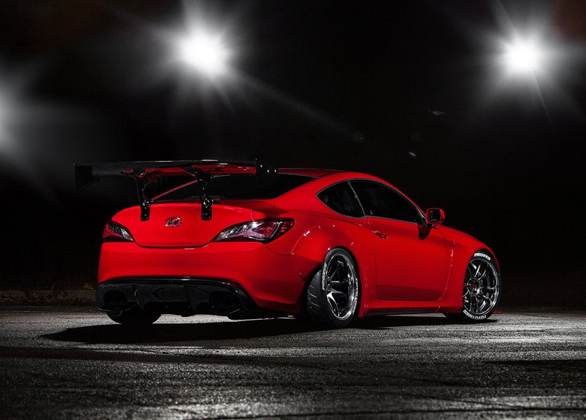 Hyundai Of Anderson >> 2014 Hyundai Genesis Coupe by Blood Type Racing - rear photo, red color, size 2048 x 1469, nr. 9 ...