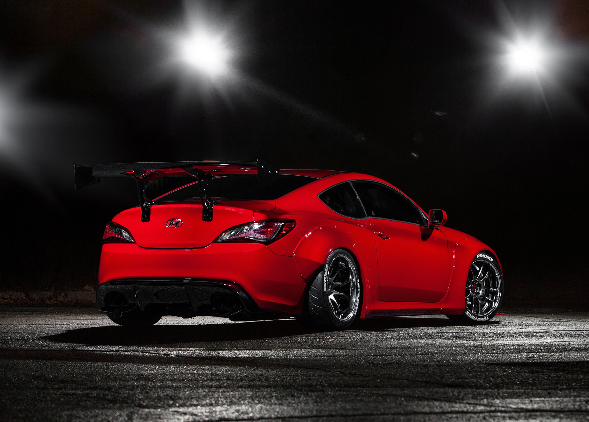 2014 hyundai genesis coupe by blood type racing rear photo red color size 2048 x 1469 nr 9. Black Bedroom Furniture Sets. Home Design Ideas