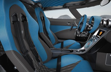 Only those materials deemed worthy by Koenigsegg are allowed in the interior.
