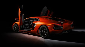 It goes without saying that both doors of the Lamborghini Aventador's carbon-fiber monocoque open upward.