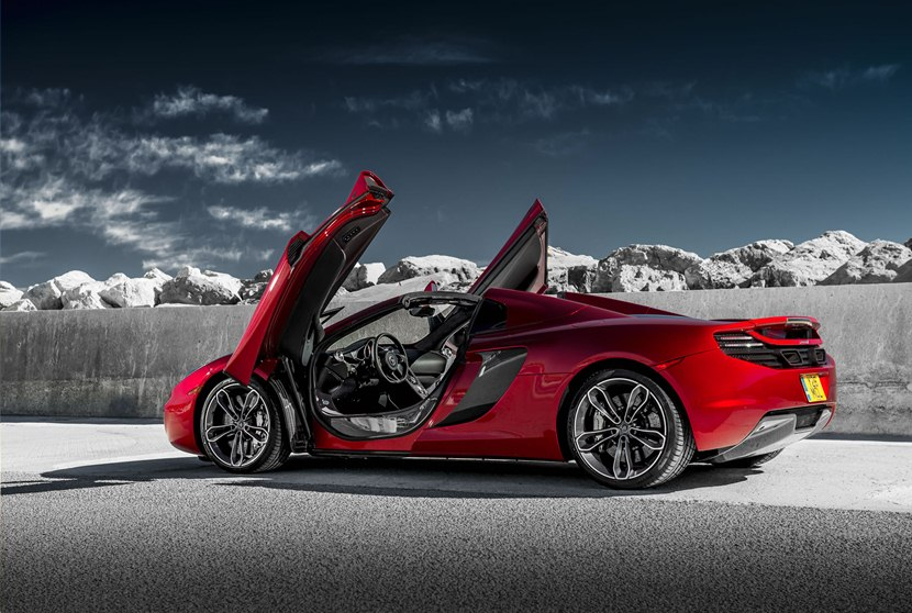 2014 McLaren MP4-12C Spider - rear photo, Volcano Red color, size 2048 ...