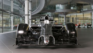 Like all 2014 Formula 1 cars introduced thus far, the MP4-29 features the anticipated take on the controversial nose design that teams have implemented under the new regulations.