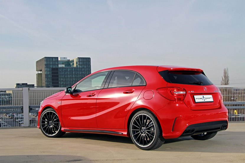 2014 Mercedes Benz A45 Amg By Posaidon Rear Photo Red Color Size