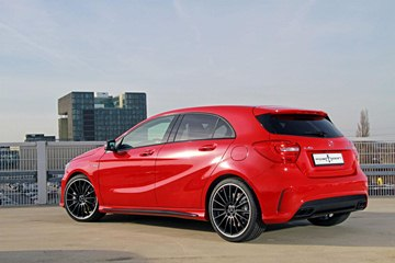 The Mercedes-Benz A 45 AMG by Posaidon, rear view.