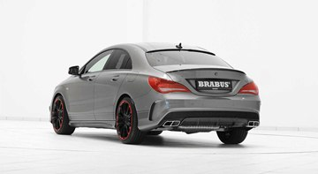 Mercedes CLA45 AMG by Brabus, rear view.
