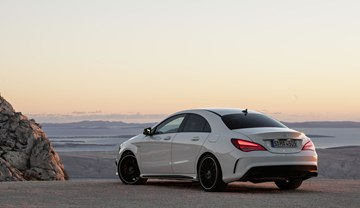 The CLA45 AMG's striking LED taillights come as standard equipment.