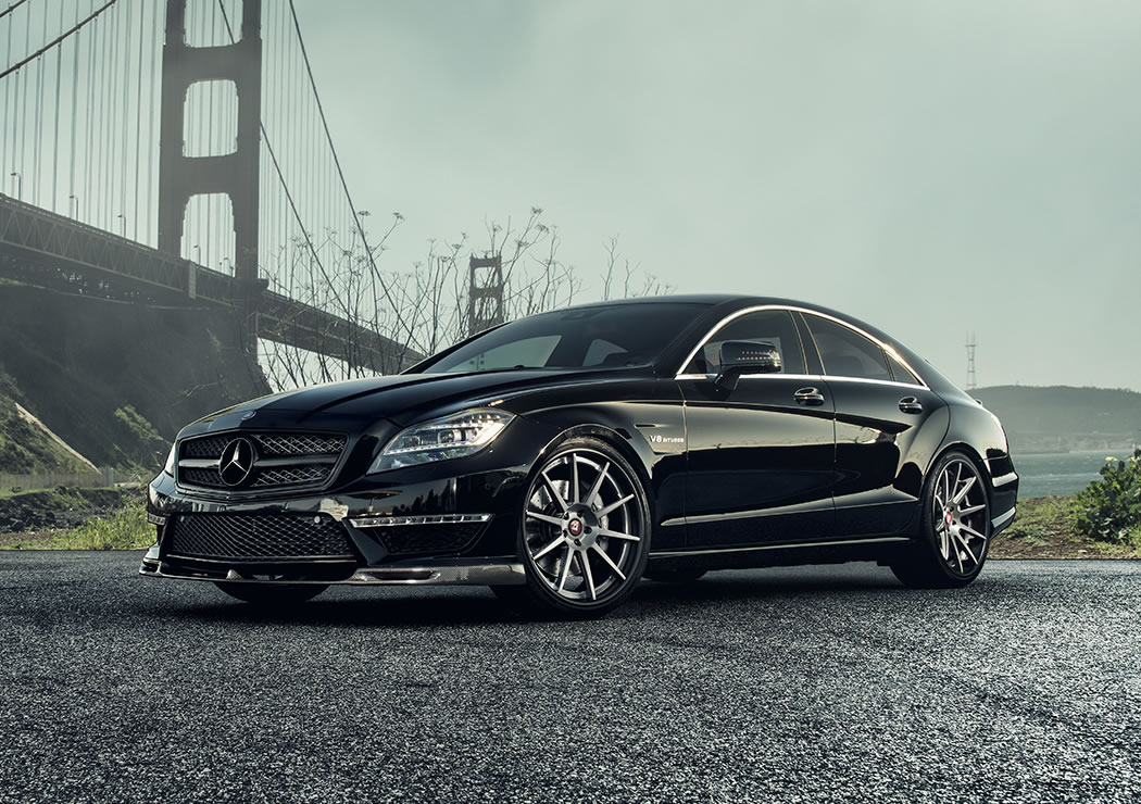 2014 mercedes benz cls63 amg by vorsteiner front photo obsidian black color size 1050 x 740. Black Bedroom Furniture Sets. Home Design Ideas