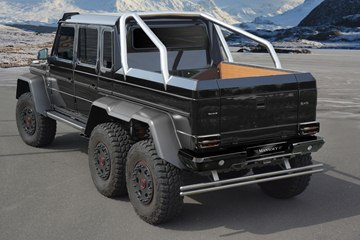 The exterior of the 6x6 has received a distinctive revision by Mansory.