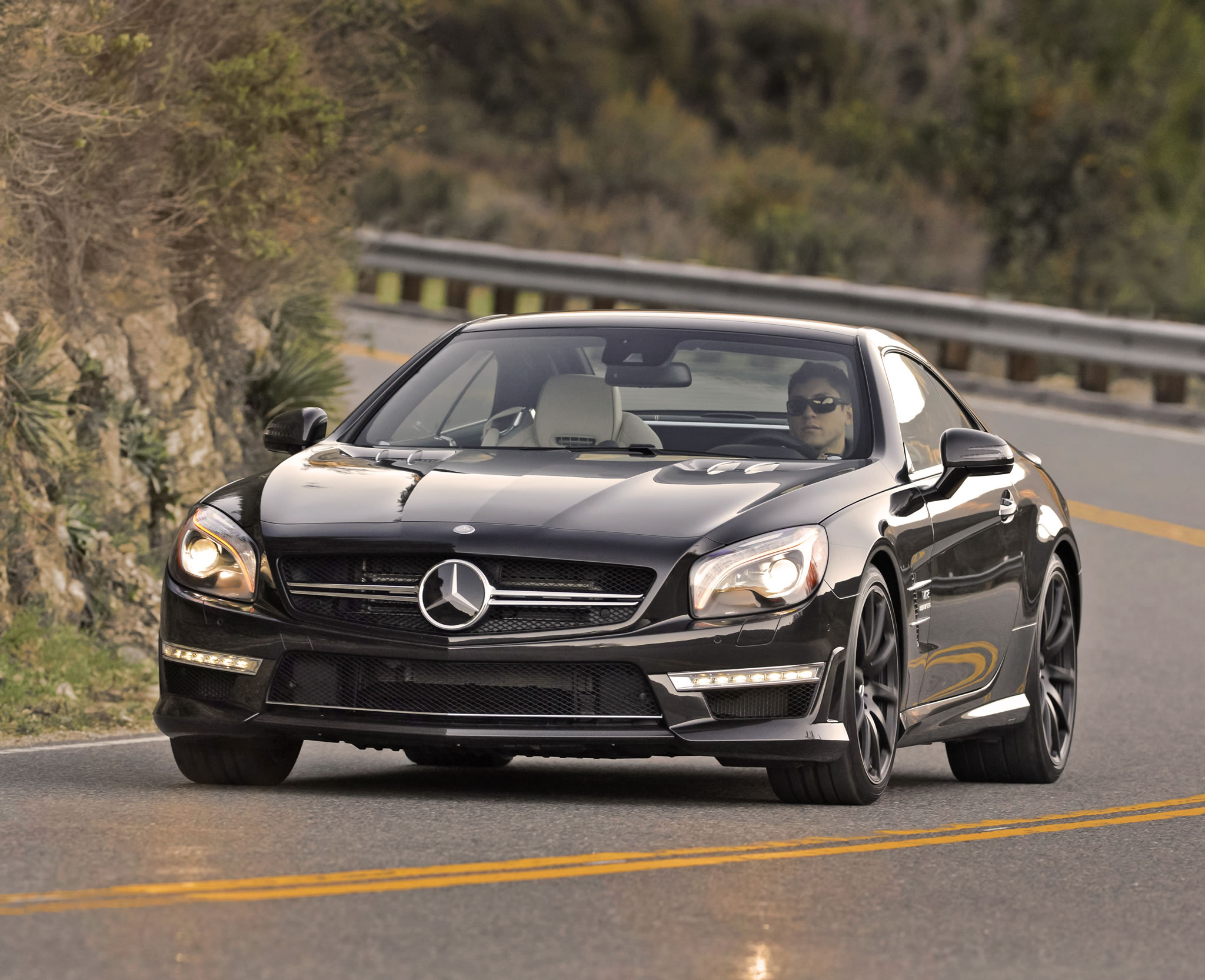 2014 Mercedes Benz Sl65 Amg Front Photo Driving Size