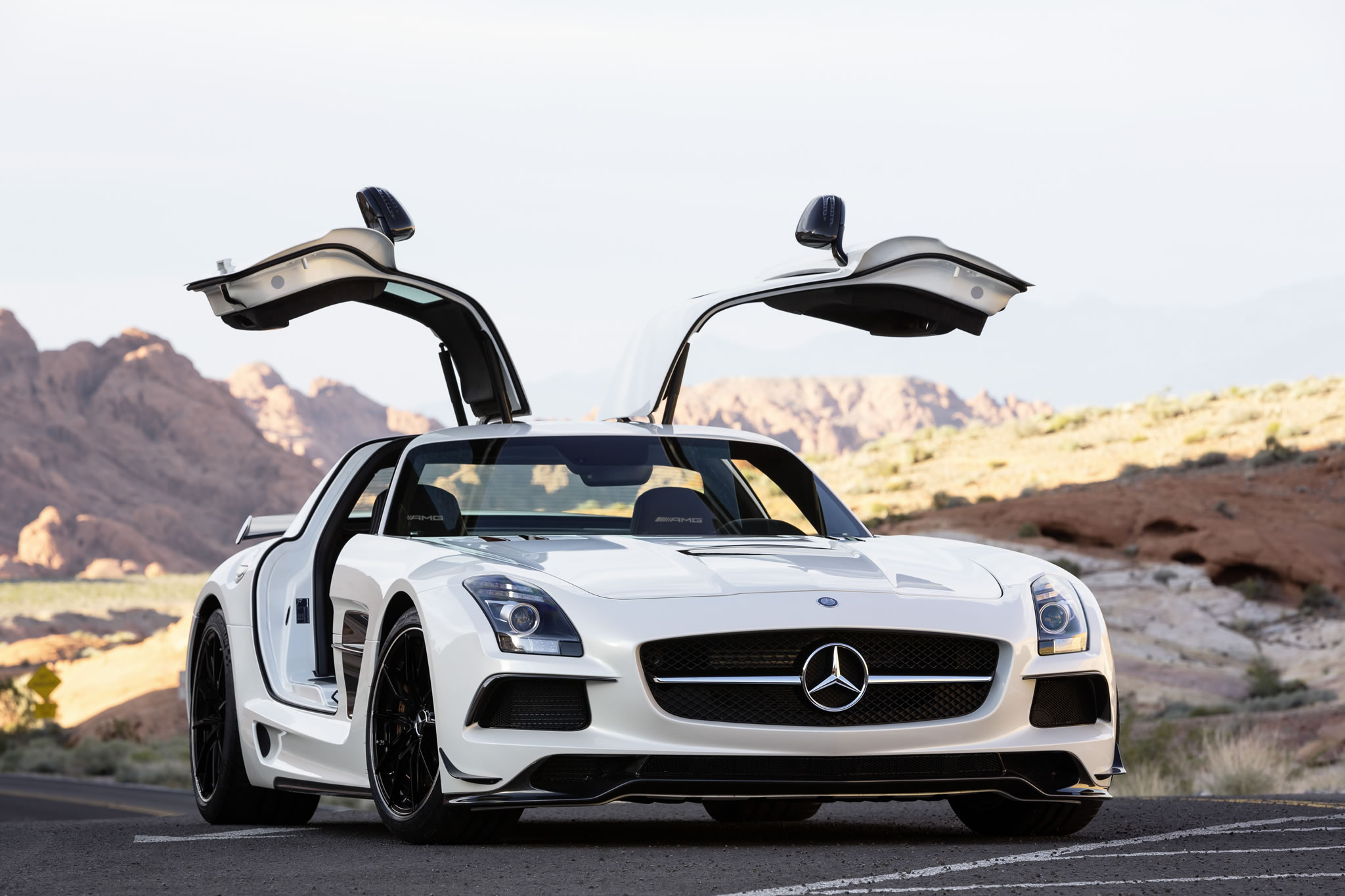 2014 mercedes benz sls amg black series front photo designo mystic white ii color gullwing. Black Bedroom Furniture Sets. Home Design Ideas