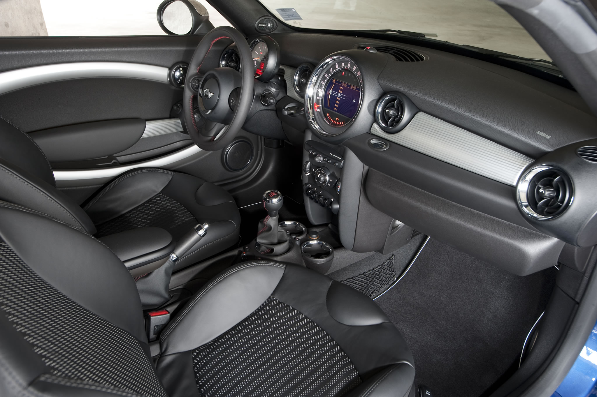 2014 Mini John Cooper Works Coupe Interior Photo Gray And Black