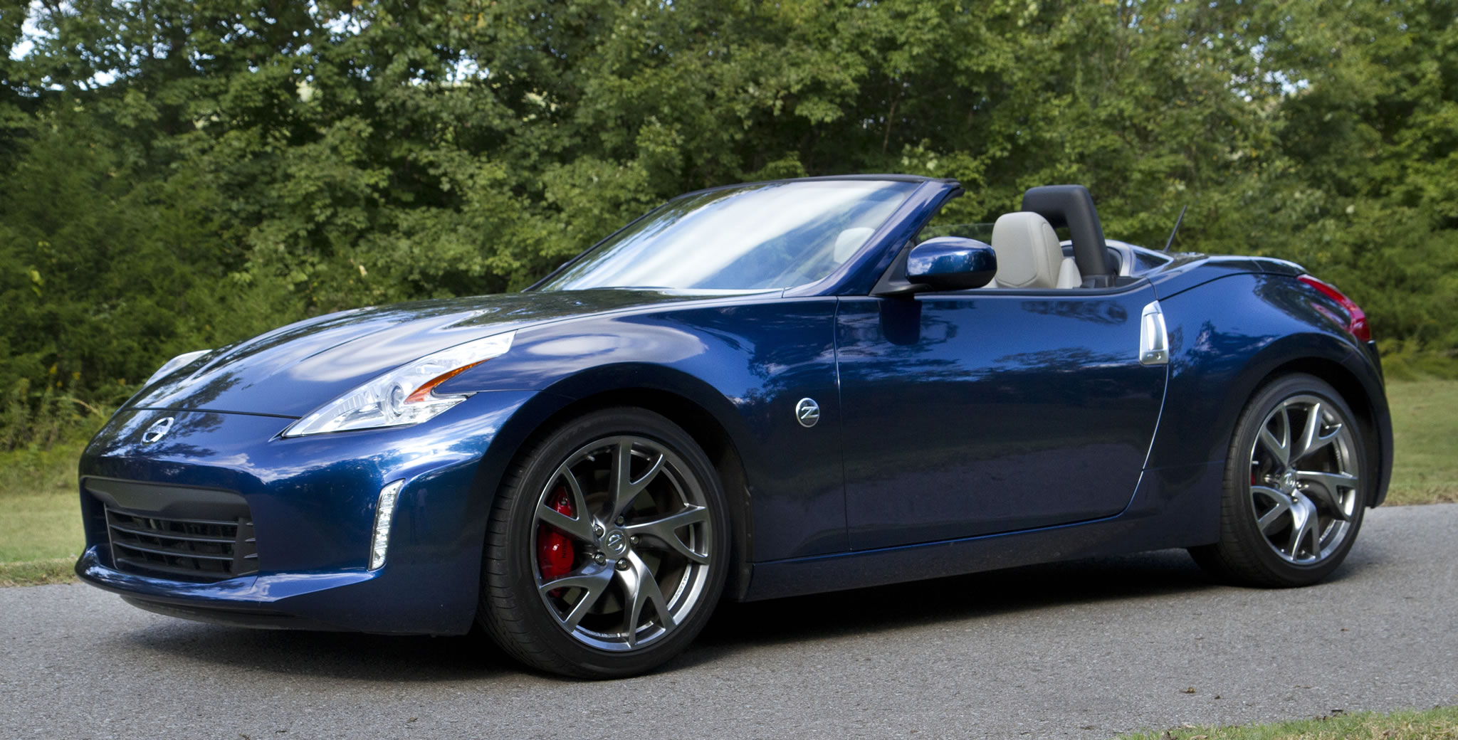 2014 Nissan 370z Roadster Front Photo Midnight Blue