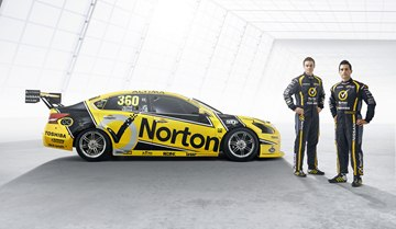 The new-look Nissan Altima V8 Supercars features smaller scallops on the front 