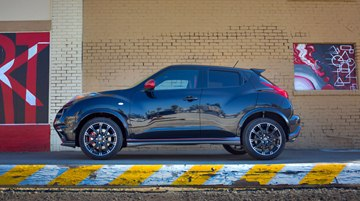 The 2014 Nissan Juke NISMO RS shares much of its racing-inspired exterior 