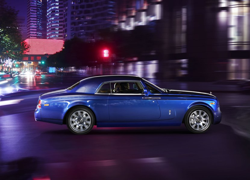 2014 Rolls Royce Phantom Coupe Side Photo Blue Color