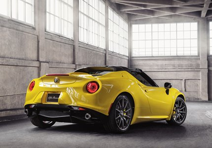 Handcrafted in Modena, Italy, Alfa Romeo 4C Spider combines two things - the performance engineering of Alfa Romeo and the craftsmanship of Maserati manufacturing.