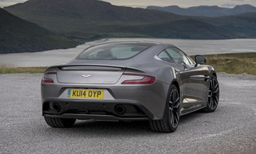 The 0-60 mph time for the Vanquish is reduced from 4.1 seconds to just 3.6 
