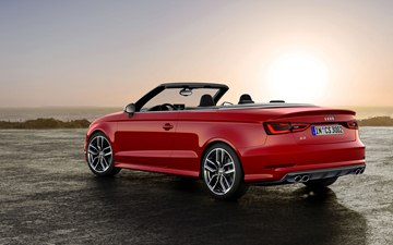 From a visual standpoint, the 2015 Audi S3 Cabriolet cuts a sporty figure.