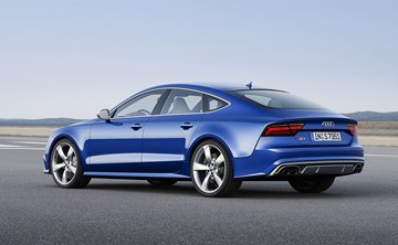 Audi is offering the updated S7 Sportback with a 4.0-liter turbocharged V8 