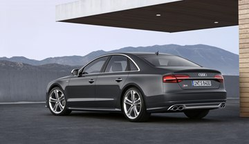 Exterior model differentiation for the 2015 S8 includes purposeful S model 