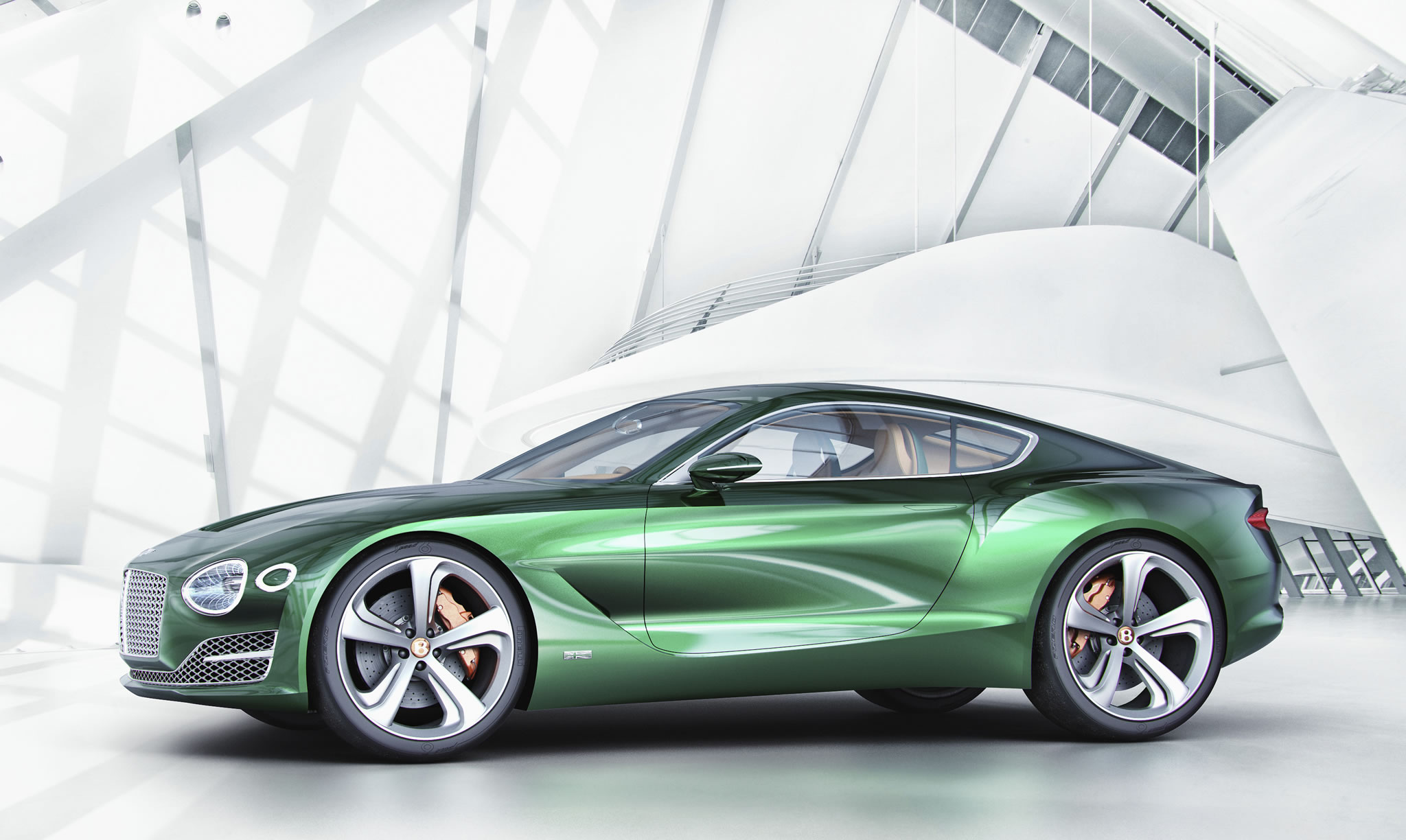 2015 Bentley Exp 10 Speed 6 Concept Front Photo Green